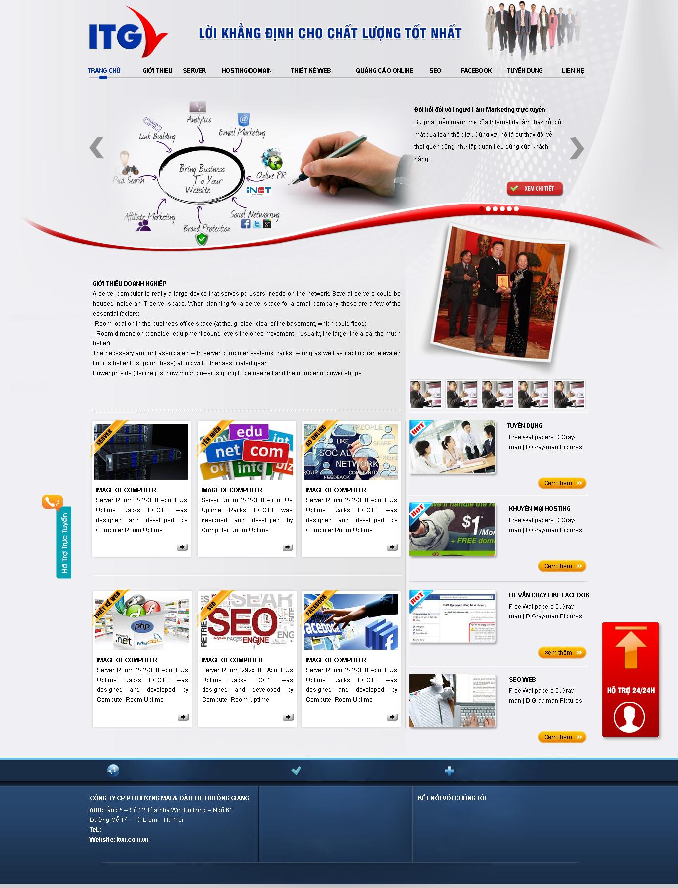web công ty